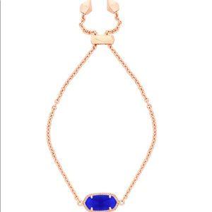 Kendra Scott rose gold bracelet with cobalt stone